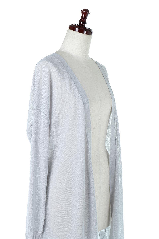 RibLineSleeveShearLongCardiganラインスリーブ・シアーカーディガン大人カジュアルに最適な海外ファッションのothers(その他インポートアイテム)のアウターやカーディガン。サラリとした触感で暑い時期にも重宝する長袖カーディガン。トレンド感のあるロング丈のデザインとバックウエストに通った紐ベルトで、後ろ姿にもメリハリがあるアイテム。/main-10