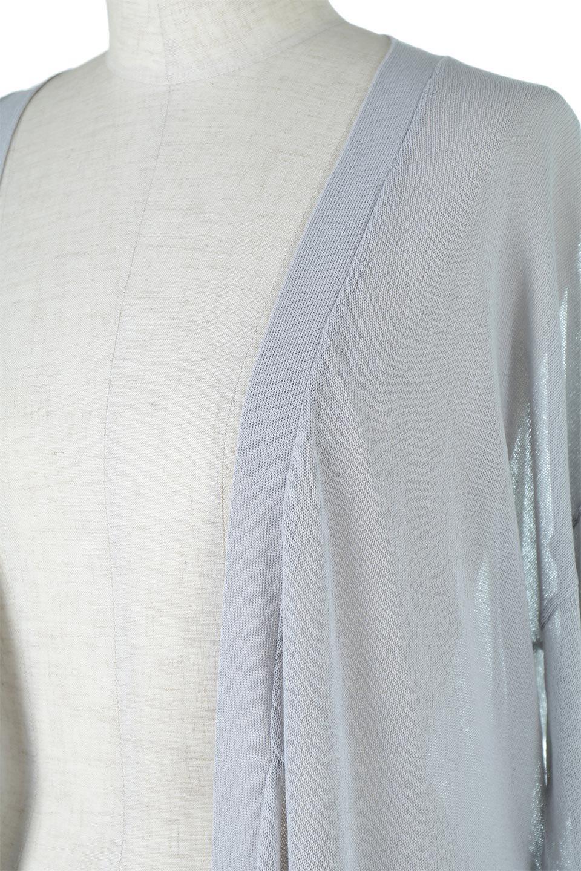 RibLineSleeveShearLongCardiganラインスリーブ・シアーカーディガン大人カジュアルに最適な海外ファッションのothers(その他インポートアイテム)のアウターやカーディガン。サラリとした触感で暑い時期にも重宝する長袖カーディガン。トレンド感のあるロング丈のデザインとバックウエストに通った紐ベルトで、後ろ姿にもメリハリがあるアイテム。/main-13