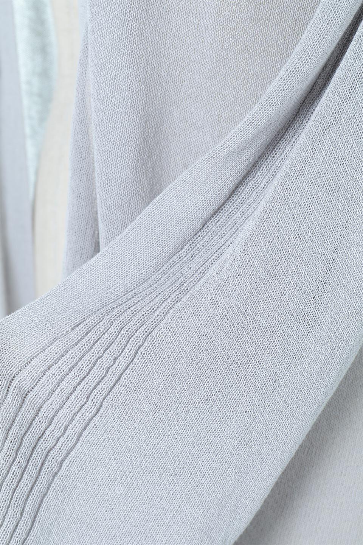 RibLineSleeveShearLongCardiganラインスリーブ・シアーカーディガン大人カジュアルに最適な海外ファッションのothers(その他インポートアイテム)のアウターやカーディガン。サラリとした触感で暑い時期にも重宝する長袖カーディガン。トレンド感のあるロング丈のデザインとバックウエストに通った紐ベルトで、後ろ姿にもメリハリがあるアイテム。/main-14