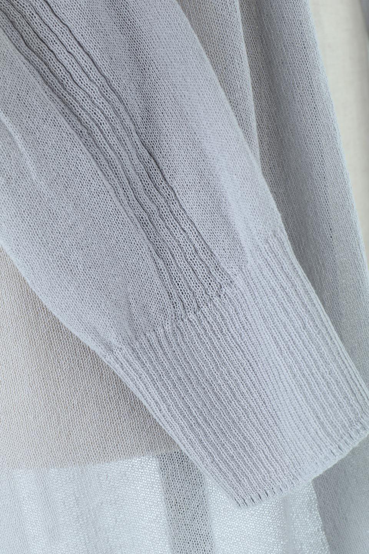 RibLineSleeveShearLongCardiganラインスリーブ・シアーカーディガン大人カジュアルに最適な海外ファッションのothers(その他インポートアイテム)のアウターやカーディガン。サラリとした触感で暑い時期にも重宝する長袖カーディガン。トレンド感のあるロング丈のデザインとバックウエストに通った紐ベルトで、後ろ姿にもメリハリがあるアイテム。/main-15