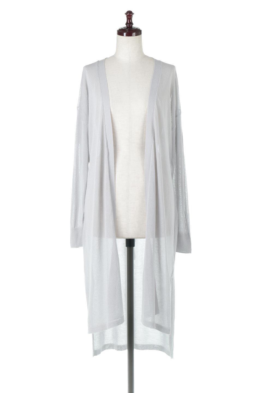 RibLineSleeveShearLongCardiganラインスリーブ・シアーカーディガン大人カジュアルに最適な海外ファッションのothers(その他インポートアイテム)のアウターやカーディガン。サラリとした触感で暑い時期にも重宝する長袖カーディガン。トレンド感のあるロング丈のデザインとバックウエストに通った紐ベルトで、後ろ姿にもメリハリがあるアイテム。/main-5
