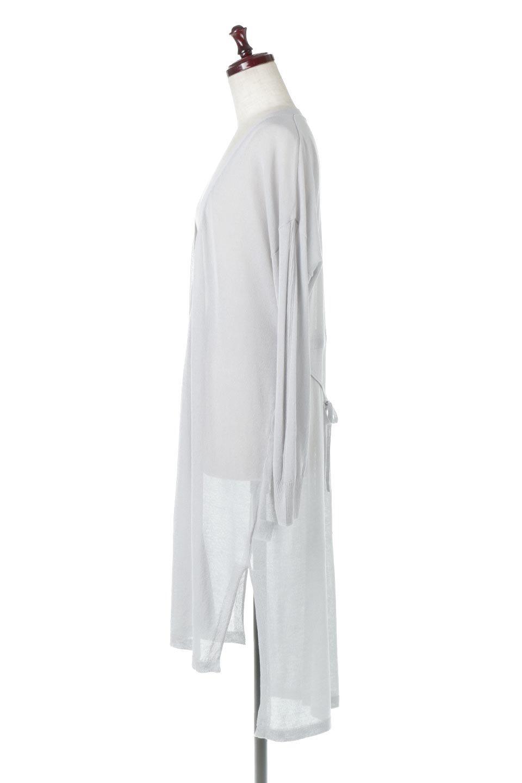 RibLineSleeveShearLongCardiganラインスリーブ・シアーカーディガン大人カジュアルに最適な海外ファッションのothers(その他インポートアイテム)のアウターやカーディガン。サラリとした触感で暑い時期にも重宝する長袖カーディガン。トレンド感のあるロング丈のデザインとバックウエストに通った紐ベルトで、後ろ姿にもメリハリがあるアイテム。/main-7