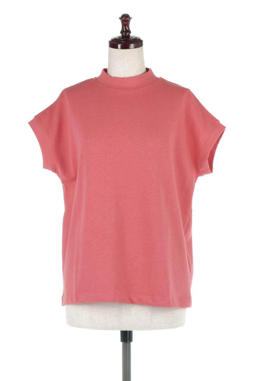 FrenchSleeveMockNeckTeeフレンチスリーブ・モックネックTシャツ大人カジュアルに最適な海外ファッションのothers(その他インポートアイテム)のトップスやTシャツ。USコットンを使用し、ゆとりを持たせたシルエットとドライタッチな肌触りのTシャツ。着心地の良さはもちろん、二の腕がきれいに見えるフレンチスリーブとしっかりした生地感で程よく体型カバーしてくれるアイテム。