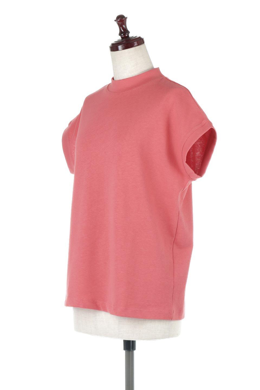 FrenchSleeveMockNeckTeeフレンチスリーブ・モックネックTシャツ大人カジュアルに最適な海外ファッションのothers(その他インポートアイテム)のトップスやTシャツ。USコットンを使用し、ゆとりを持たせたシルエットとドライタッチな肌触りのTシャツ。着心地の良さはもちろん、二の腕がきれいに見えるフレンチスリーブとしっかりした生地感で程よく体型カバーしてくれるアイテム。/main-1