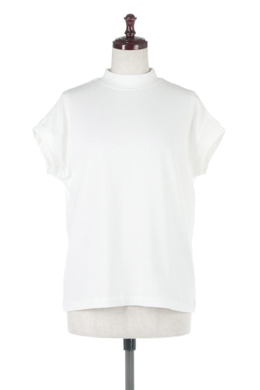 FrenchSleeveMockNeckTeeフレンチスリーブ・モックネックTシャツ大人カジュアルに最適な海外ファッションのothers(その他インポートアイテム)のトップスやTシャツ。USコットンを使用し、ゆとりを持たせたシルエットとドライタッチな肌触りのTシャツ。着心地の良さはもちろん、二の腕がきれいに見えるフレンチスリーブとしっかりした生地感で程よく体型カバーしてくれるアイテム。/main-10
