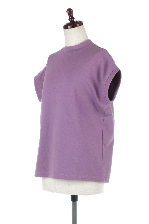FrenchSleeveMockNeckTeeフレンチスリーブ・モックネックTシャツ大人カジュアルに最適な海外ファッションのothers(その他インポートアイテム)のトップスやTシャツ。USコットンを使用し、ゆとりを持たせたシルエットとドライタッチな肌触りのTシャツ。着心地の良さはもちろん、二の腕がきれいに見えるフレンチスリーブとしっかりした生地感で程よく体型カバーしてくれるアイテム。/main-21