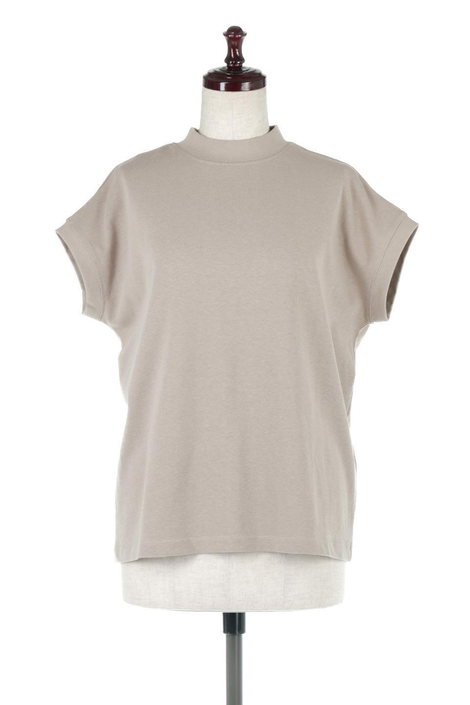FrenchSleeveMockNeckTeeフレンチスリーブ・モックネックTシャツ大人カジュアルに最適な海外ファッションのothers(その他インポートアイテム)のトップスやTシャツ。USコットンを使用し、ゆとりを持たせたシルエットとドライタッチな肌触りのTシャツ。着心地の良さはもちろん、二の腕がきれいに見えるフレンチスリーブとしっかりした生地感で程よく体型カバーしてくれるアイテム。/main-5