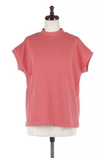 海外ファッションや大人カジュアルに最適なインポートセレクトアイテムのFrench Sleeve Mock Neck Tee フレンチスリーブ・モックネックTシャツ