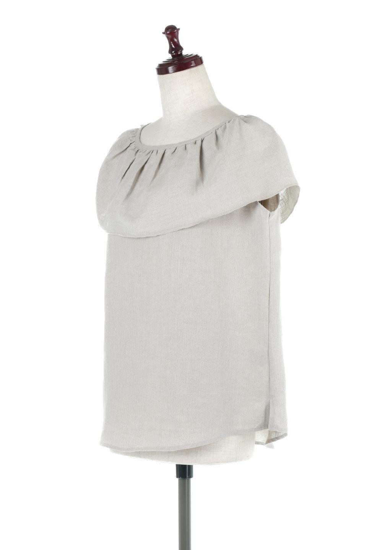 WashableLinenFrilledBlouseウォッシャブルリネン・フリルブラウス大人カジュアルに最適な海外ファッションのothers(その他インポートアイテム)のトップスやシャツ・ブラウス。首回りをぐるりと囲むフリルデザインが目を惹くナチュラルな印象のブラウス。デコルテラインが綺麗に見える開き具合で、ゆったりとしたシルエット。/main-1