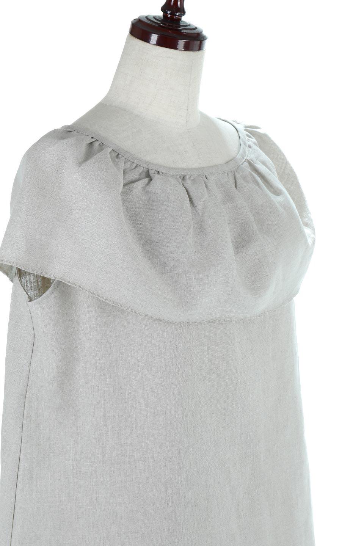 WashableLinenFrilledBlouseウォッシャブルリネン・フリルブラウス大人カジュアルに最適な海外ファッションのothers(その他インポートアイテム)のトップスやシャツ・ブラウス。首回りをぐるりと囲むフリルデザインが目を惹くナチュラルな印象のブラウス。デコルテラインが綺麗に見える開き具合で、ゆったりとしたシルエット。/main-10