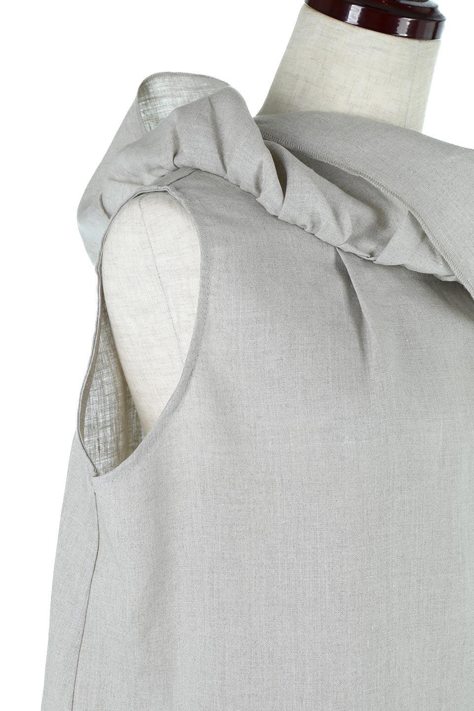 WashableLinenFrilledBlouseウォッシャブルリネン・フリルブラウス大人カジュアルに最適な海外ファッションのothers(その他インポートアイテム)のトップスやシャツ・ブラウス。首回りをぐるりと囲むフリルデザインが目を惹くナチュラルな印象のブラウス。デコルテラインが綺麗に見える開き具合で、ゆったりとしたシルエット。/main-14