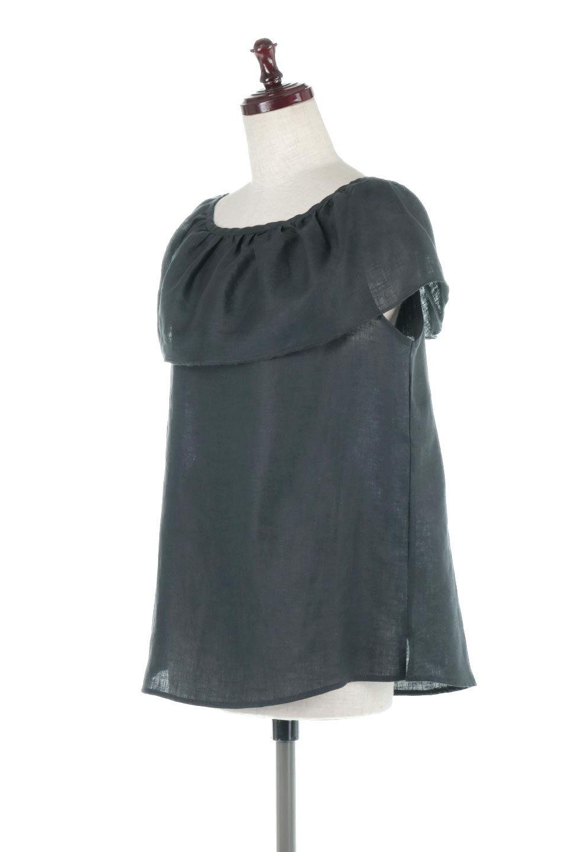 WashableLinenFrilledBlouseウォッシャブルリネン・フリルブラウス大人カジュアルに最適な海外ファッションのothers(その他インポートアイテム)のトップスやシャツ・ブラウス。首回りをぐるりと囲むフリルデザインが目を惹くナチュラルな印象のブラウス。デコルテラインが綺麗に見える開き具合で、ゆったりとしたシルエット。/main-6