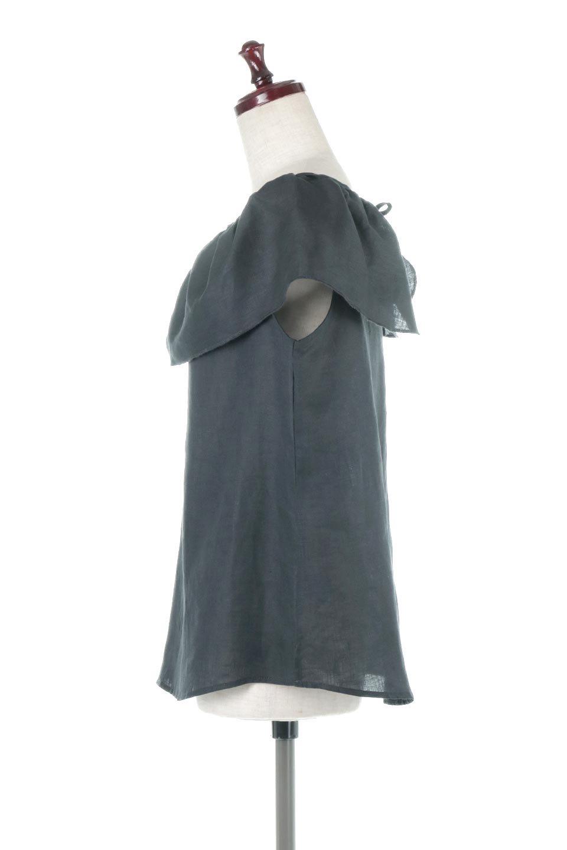 WashableLinenFrilledBlouseウォッシャブルリネン・フリルブラウス大人カジュアルに最適な海外ファッションのothers(その他インポートアイテム)のトップスやシャツ・ブラウス。首回りをぐるりと囲むフリルデザインが目を惹くナチュラルな印象のブラウス。デコルテラインが綺麗に見える開き具合で、ゆったりとしたシルエット。/main-7