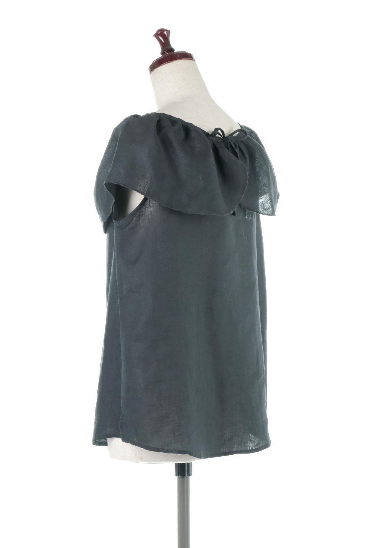 WashableLinenFrilledBlouseウォッシャブルリネン・フリルブラウス大人カジュアルに最適な海外ファッションのothers(その他インポートアイテム)のトップスやシャツ・ブラウス。首回りをぐるりと囲むフリルデザインが目を惹くナチュラルな印象のブラウス。デコルテラインが綺麗に見える開き具合で、ゆったりとしたシルエット。/main-8