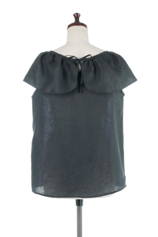 WashableLinenFrilledBlouseウォッシャブルリネン・フリルブラウス大人カジュアルに最適な海外ファッションのothers(その他インポートアイテム)のトップスやシャツ・ブラウス。首回りをぐるりと囲むフリルデザインが目を惹くナチュラルな印象のブラウス。デコルテラインが綺麗に見える開き具合で、ゆったりとしたシルエット。/main-9