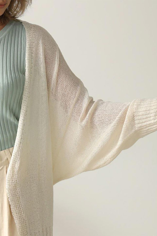 DolmanSleeveShearLoseKnitCardiganドルマンスリーブ・シアーニットカーディガン大人カジュアルに最適な海外ファッションのothers(その他インポートアイテム)のアウターやカーディガン。程よい透け感とゆったりとしたルーズなシルエットが魅力のニットカーディガン。やや長めの着丈と、ドルマンスリーブが体型カバーをしつつ、身体のラインを美しく見せてくれます。/main-23