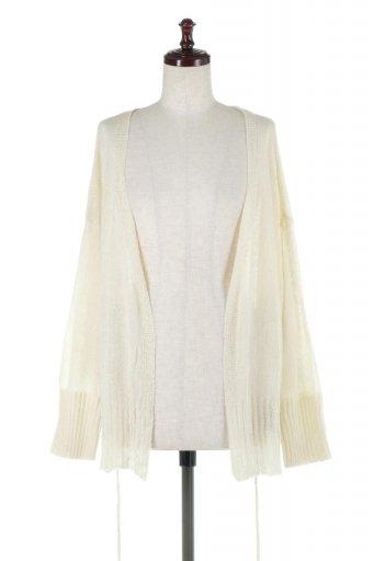海外ファッションや大人カジュアルに最適なインポートセレクトアイテムのDolman Sleeve Shear Lose Knit Cardigan ドルマンスリーブ・シアーニットカーディガン