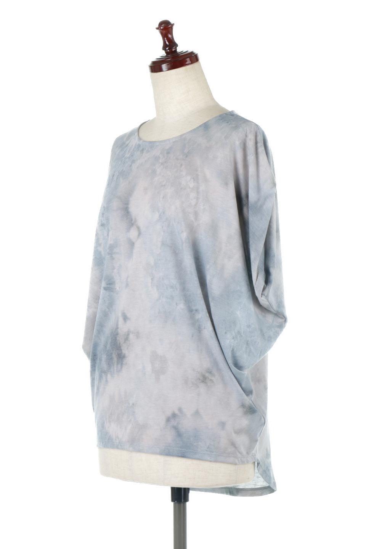 TieDyeDrapedTopタイダイ染・ルーズTシャツ大人カジュアルに最適な海外ファッションのothers(その他インポートアイテム)のトップスやカットソー。ポリエステル×レーヨンのてろんとした素材感が嬉しいタイダイ染めのTシャツ。ぼんやりとした優しいカラーリングで、派手すぎずに使いやすいトップス。/main-1