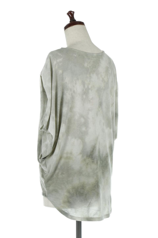 TieDyeDrapedTopタイダイ染・ルーズTシャツ大人カジュアルに最適な海外ファッションのothers(その他インポートアイテム)のトップスやカットソー。ポリエステル×レーヨンのてろんとした素材感が嬉しいタイダイ染めのTシャツ。ぼんやりとした優しいカラーリングで、派手すぎずに使いやすいトップス。/main-13