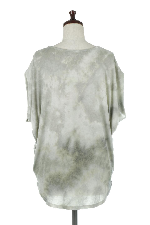 TieDyeDrapedTopタイダイ染・ルーズTシャツ大人カジュアルに最適な海外ファッションのothers(その他インポートアイテム)のトップスやカットソー。ポリエステル×レーヨンのてろんとした素材感が嬉しいタイダイ染めのTシャツ。ぼんやりとした優しいカラーリングで、派手すぎずに使いやすいトップス。/main-14