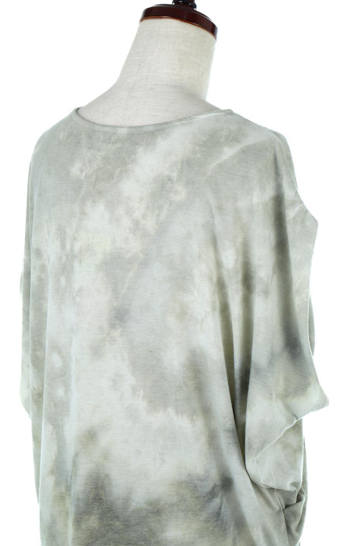 TieDyeDrapedTopタイダイ染・ルーズTシャツ大人カジュアルに最適な海外ファッションのothers(その他インポートアイテム)のトップスやカットソー。ポリエステル×レーヨンのてろんとした素材感が嬉しいタイダイ染めのTシャツ。ぼんやりとした優しいカラーリングで、派手すぎずに使いやすいトップス。/main-16