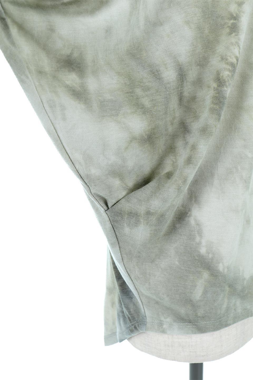 TieDyeDrapedTopタイダイ染・ルーズTシャツ大人カジュアルに最適な海外ファッションのothers(その他インポートアイテム)のトップスやカットソー。ポリエステル×レーヨンのてろんとした素材感が嬉しいタイダイ染めのTシャツ。ぼんやりとした優しいカラーリングで、派手すぎずに使いやすいトップス。/main-19