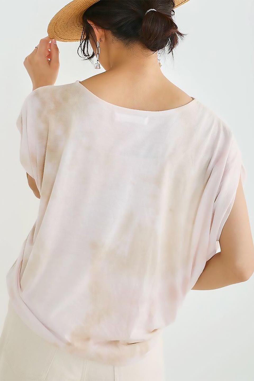 TieDyeDrapedTopタイダイ染・ルーズTシャツ大人カジュアルに最適な海外ファッションのothers(その他インポートアイテム)のトップスやカットソー。ポリエステル×レーヨンのてろんとした素材感が嬉しいタイダイ染めのTシャツ。ぼんやりとした優しいカラーリングで、派手すぎずに使いやすいトップス。/main-25