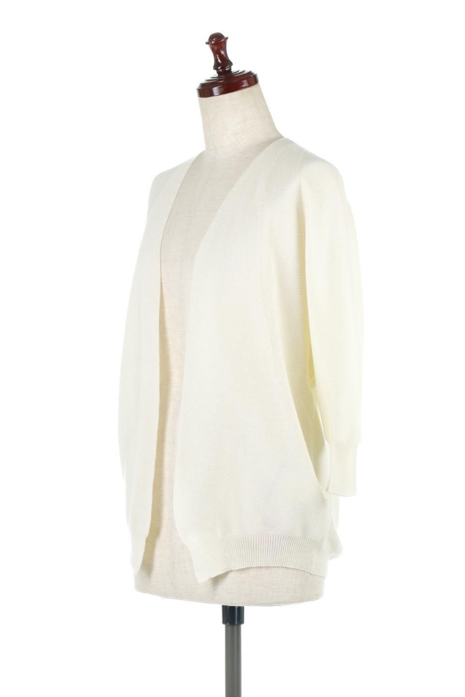 SeamlessShortCardigansホールガーメント・ショートカーディガン大人カジュアルに最適な海外ファッションのothers(その他インポートアイテム)のアウターやカーディガン。服の状態で編み上げるホールガーメント製法を用いたシームレス(無縫製)のカーディガン。縫い目が無いので、ノースリーブなどお肌が直接触れる部分が多い季節でも、チクチクを軽減してくれます。/main-6