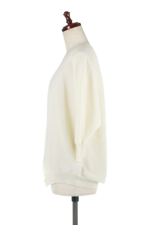 SeamlessShortCardigansホールガーメント・ショートカーディガン大人カジュアルに最適な海外ファッションのothers(その他インポートアイテム)のアウターやカーディガン。服の状態で編み上げるホールガーメント製法を用いたシームレス(無縫製)のカーディガン。縫い目が無いので、ノースリーブなどお肌が直接触れる部分が多い季節でも、チクチクを軽減してくれます。/main-7