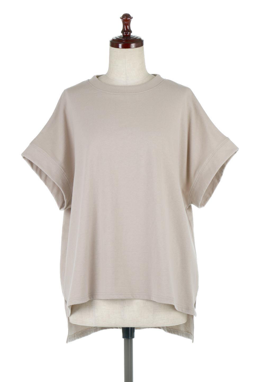 FrenchSleevePullOverTeeフレンチスリーブ・Tシャツ大人カジュアルに最適な海外ファッションのothers(その他インポートアイテム)のトップスやTシャツ。シンプルでつい着たくなる素材とシルエットが自慢のTシャツ。身体のラインをひろいづらい、しっかりとした中肉の暑さの安心カットソー生地のアイテムです。
