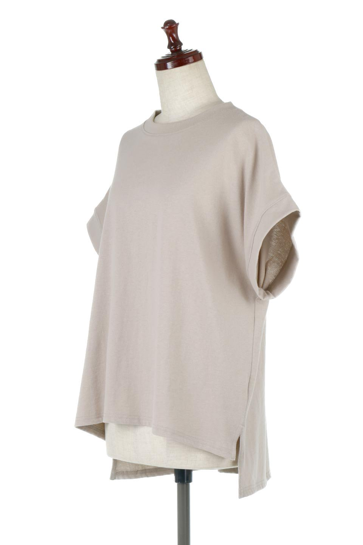 FrenchSleevePullOverTeeフレンチスリーブ・Tシャツ大人カジュアルに最適な海外ファッションのothers(その他インポートアイテム)のトップスやTシャツ。シンプルでつい着たくなる素材とシルエットが自慢のTシャツ。身体のラインをひろいづらい、しっかりとした中肉の暑さの安心カットソー生地のアイテムです。/main-1