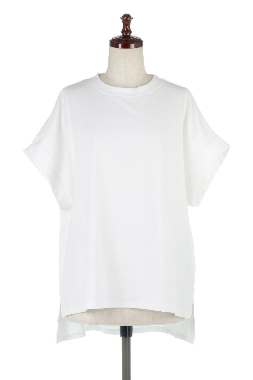 FrenchSleevePullOverTeeフレンチスリーブ・Tシャツ大人カジュアルに最適な海外ファッションのothers(その他インポートアイテム)のトップスやTシャツ。シンプルでつい着たくなる素材とシルエットが自慢のTシャツ。身体のラインをひろいづらい、しっかりとした中肉の暑さの安心カットソー生地のアイテムです。/main-10