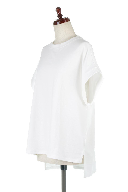 FrenchSleevePullOverTeeフレンチスリーブ・Tシャツ大人カジュアルに最適な海外ファッションのothers(その他インポートアイテム)のトップスやTシャツ。シンプルでつい着たくなる素材とシルエットが自慢のTシャツ。身体のラインをひろいづらい、しっかりとした中肉の暑さの安心カットソー生地のアイテムです。/main-11