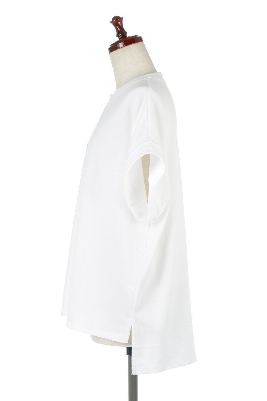 FrenchSleevePullOverTeeフレンチスリーブ・Tシャツ大人カジュアルに最適な海外ファッションのothers(その他インポートアイテム)のトップスやTシャツ。シンプルでつい着たくなる素材とシルエットが自慢のTシャツ。身体のラインをひろいづらい、しっかりとした中肉の暑さの安心カットソー生地のアイテムです。/main-12
