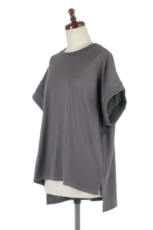 FrenchSleevePullOverTeeフレンチスリーブ・Tシャツ大人カジュアルに最適な海外ファッションのothers(その他インポートアイテム)のトップスやTシャツ。シンプルでつい着たくなる素材とシルエットが自慢のTシャツ。身体のラインをひろいづらい、しっかりとした中肉の暑さの安心カットソー生地のアイテムです。/main-16