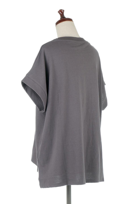 FrenchSleevePullOverTeeフレンチスリーブ・Tシャツ大人カジュアルに最適な海外ファッションのothers(その他インポートアイテム)のトップスやTシャツ。シンプルでつい着たくなる素材とシルエットが自慢のTシャツ。身体のラインをひろいづらい、しっかりとした中肉の暑さの安心カットソー生地のアイテムです。/main-18