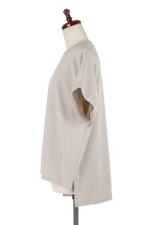 FrenchSleevePullOverTeeフレンチスリーブ・Tシャツ大人カジュアルに最適な海外ファッションのothers(その他インポートアイテム)のトップスやTシャツ。シンプルでつい着たくなる素材とシルエットが自慢のTシャツ。身体のラインをひろいづらい、しっかりとした中肉の暑さの安心カットソー生地のアイテムです。/main-2