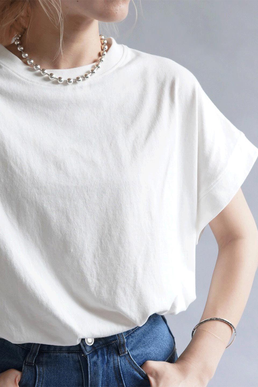 FrenchSleevePullOverTeeフレンチスリーブ・Tシャツ大人カジュアルに最適な海外ファッションのothers(その他インポートアイテム)のトップスやTシャツ。シンプルでつい着たくなる素材とシルエットが自慢のTシャツ。身体のラインをひろいづらい、しっかりとした中肉の暑さの安心カットソー生地のアイテムです。/main-28