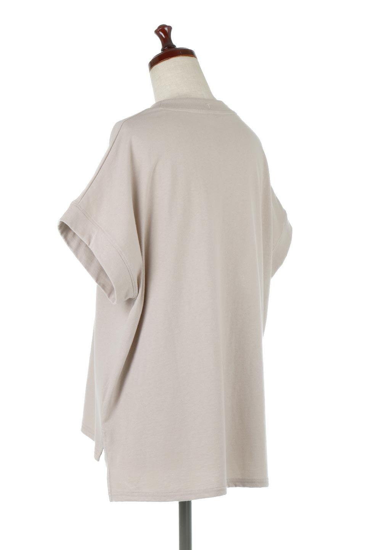FrenchSleevePullOverTeeフレンチスリーブ・Tシャツ大人カジュアルに最適な海外ファッションのothers(その他インポートアイテム)のトップスやTシャツ。シンプルでつい着たくなる素材とシルエットが自慢のTシャツ。身体のラインをひろいづらい、しっかりとした中肉の暑さの安心カットソー生地のアイテムです。/main-3