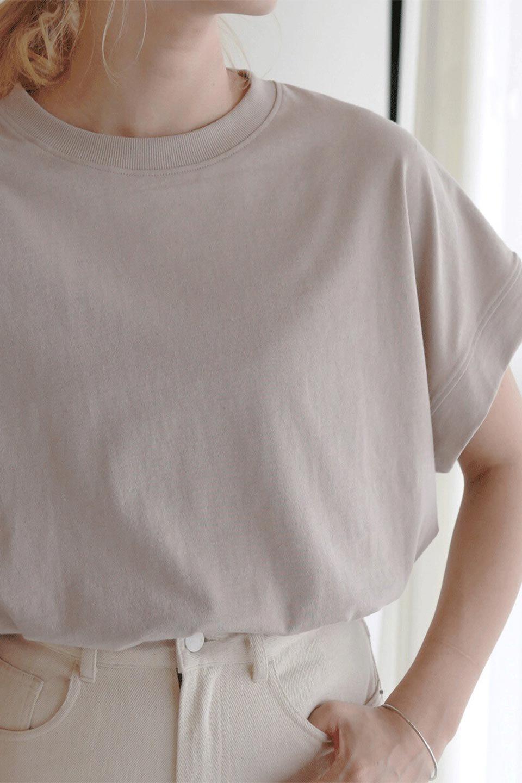 FrenchSleevePullOverTeeフレンチスリーブ・Tシャツ大人カジュアルに最適な海外ファッションのothers(その他インポートアイテム)のトップスやTシャツ。シンプルでつい着たくなる素材とシルエットが自慢のTシャツ。身体のラインをひろいづらい、しっかりとした中肉の暑さの安心カットソー生地のアイテムです。/main-31