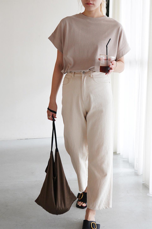 FrenchSleevePullOverTeeフレンチスリーブ・Tシャツ大人カジュアルに最適な海外ファッションのothers(その他インポートアイテム)のトップスやTシャツ。シンプルでつい着たくなる素材とシルエットが自慢のTシャツ。身体のラインをひろいづらい、しっかりとした中肉の暑さの安心カットソー生地のアイテムです。/main-34