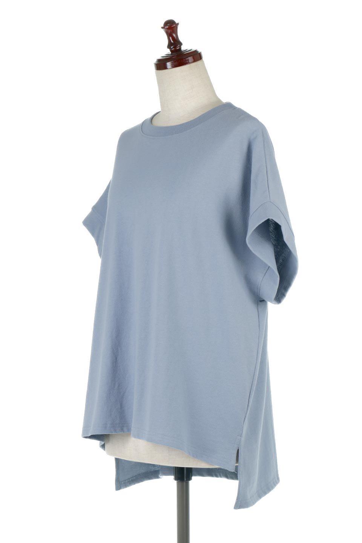 FrenchSleevePullOverTeeフレンチスリーブ・Tシャツ大人カジュアルに最適な海外ファッションのothers(その他インポートアイテム)のトップスやTシャツ。シンプルでつい着たくなる素材とシルエットが自慢のTシャツ。身体のラインをひろいづらい、しっかりとした中肉の暑さの安心カットソー生地のアイテムです。/main-6