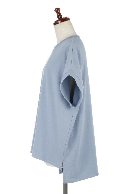FrenchSleevePullOverTeeフレンチスリーブ・Tシャツ大人カジュアルに最適な海外ファッションのothers(その他インポートアイテム)のトップスやTシャツ。シンプルでつい着たくなる素材とシルエットが自慢のTシャツ。身体のラインをひろいづらい、しっかりとした中肉の暑さの安心カットソー生地のアイテムです。/main-7