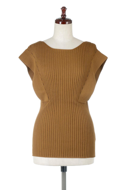 SquareFrenchSleeveTopスクエアフレンチスリーブ・リブトップス大人カジュアルに最適な海外ファッションのothers(その他インポートアイテム)のトップスやカットソー。袖のデザインが印象的なリブトップス。首元や裾は縫い目の無いシームレスな作りで、すっきり見えるシルエット。