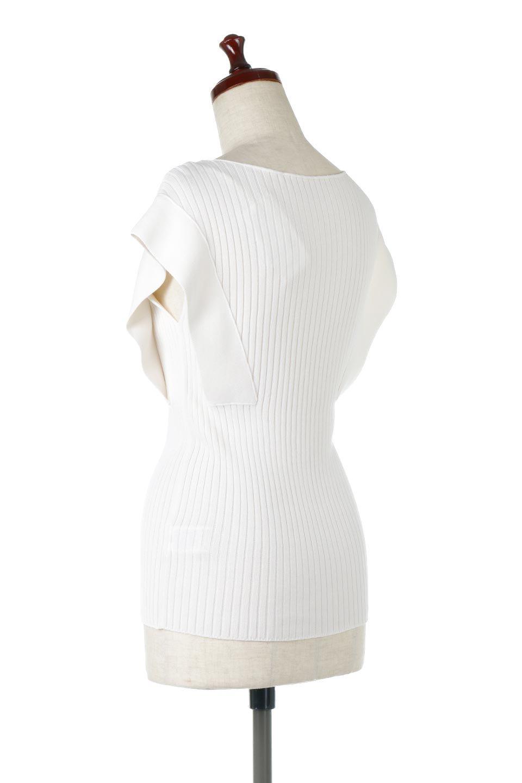 SquareFrenchSleeveTopスクエアフレンチスリーブ・リブトップス大人カジュアルに最適な海外ファッションのothers(その他インポートアイテム)のトップスやカットソー。袖のデザインが印象的なリブトップス。首元や裾は縫い目の無いシームレスな作りで、すっきり見えるシルエット。/main-13