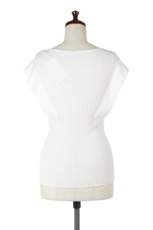 SquareFrenchSleeveTopスクエアフレンチスリーブ・リブトップス大人カジュアルに最適な海外ファッションのothers(その他インポートアイテム)のトップスやカットソー。袖のデザインが印象的なリブトップス。首元や裾は縫い目の無いシームレスな作りで、すっきり見えるシルエット。/main-14