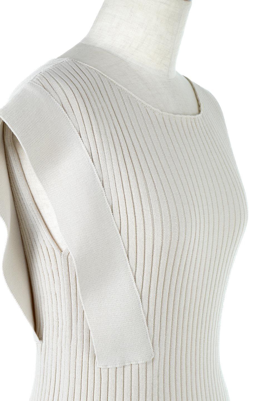 SquareFrenchSleeveTopスクエアフレンチスリーブ・リブトップス大人カジュアルに最適な海外ファッションのothers(その他インポートアイテム)のトップスやカットソー。袖のデザインが印象的なリブトップス。首元や裾は縫い目の無いシームレスな作りで、すっきり見えるシルエット。/main-15