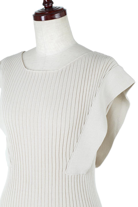 SquareFrenchSleeveTopスクエアフレンチスリーブ・リブトップス大人カジュアルに最適な海外ファッションのothers(その他インポートアイテム)のトップスやカットソー。袖のデザインが印象的なリブトップス。首元や裾は縫い目の無いシームレスな作りで、すっきり見えるシルエット。/main-16