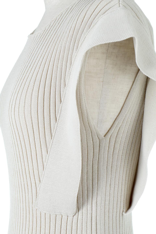SquareFrenchSleeveTopスクエアフレンチスリーブ・リブトップス大人カジュアルに最適な海外ファッションのothers(その他インポートアイテム)のトップスやカットソー。袖のデザインが印象的なリブトップス。首元や裾は縫い目の無いシームレスな作りで、すっきり見えるシルエット。/main-19