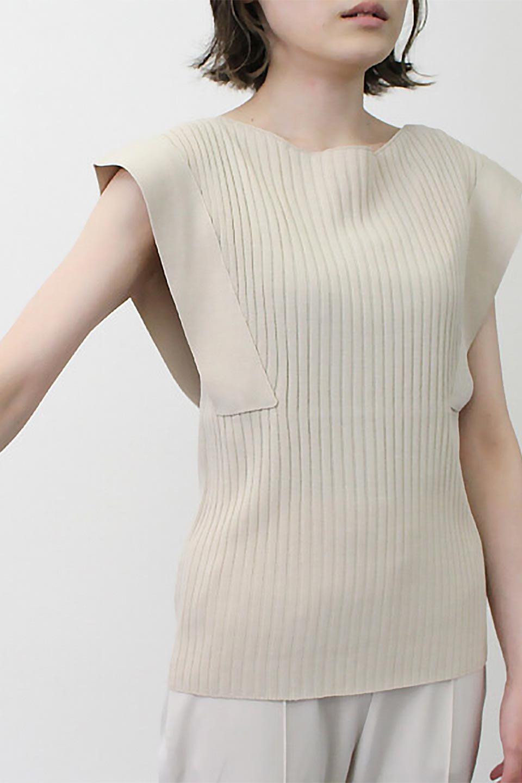 SquareFrenchSleeveTopスクエアフレンチスリーブ・リブトップス大人カジュアルに最適な海外ファッションのothers(その他インポートアイテム)のトップスやカットソー。袖のデザインが印象的なリブトップス。首元や裾は縫い目の無いシームレスな作りで、すっきり見えるシルエット。/main-24